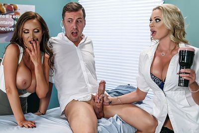 Dick Stuck In Fleshlight Nikki Benz & Briana Banks